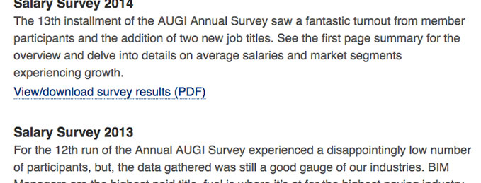 AUGI Surveys and Polls