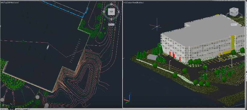 how to create topography in revit from autocad
