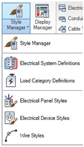 there are plenty of electrical system definitions that come ready  out-of-the-box  you can edit, add, or delete styles  we're only going to  look at the