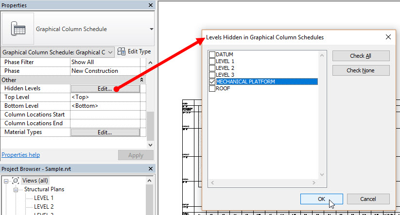 Customizing the Graphical Column Schedule | AUGI - The world's